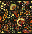 colorful seamless with eastern patterns on dark vector image