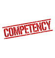competency stamp vector image vector image