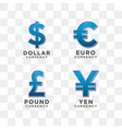 currency sign graphic template vector image vector image