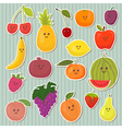 Cute cartoon fruits healthy food vector image