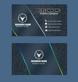 dark blue color business card image vector image vector image