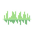 design of digital music wave bright green vector image