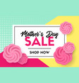 discount template mothers day sale card vector image vector image