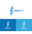 dna and chromosome logo combination vector image