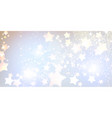 elegant christmas banner with stars vector image