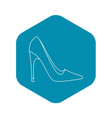 elegant women high heel shoe icon outline style vector image vector image