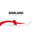 england waving flag banner english national vector image