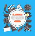 filmmaking landing page template cinematography vector image vector image
