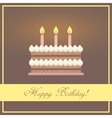 flat design happy birthday greeting card vector image