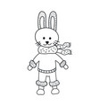 funny rabbit nursery art minimalist scandinavian vector image vector image