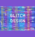glitch color dark transparent background vector image vector image