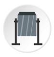 grey metal dust bin icon circle vector image vector image
