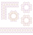 Guilloche rosette and borders vector image vector image