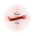 happy memorial day card vector image