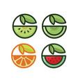 healthy fruit vector image vector image