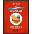 Hotdog poster vector image vector image