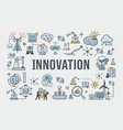innovation banner web icon for business brain vector image