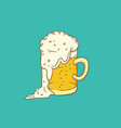 isolated color sketch pint vector image vector image