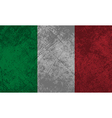 Italian Flag Grunge vector image vector image