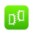 knuckles with spikes icon digital green vector image vector image