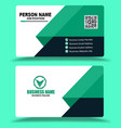 light green business card template vector image vector image
