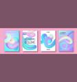 liquid color collection fluid gradient design vector image