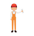 mechanic with wrench avatar character vector image