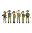 Military people vector image