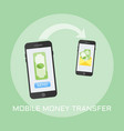 mobile money transfer colored vector image