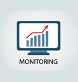 monitoring of income growth vector image vector image