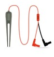 multimeter tweezer probe isolated vector image vector image