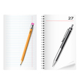 pencil pen sheet vector image