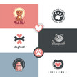 pet shop logo designs vector image vector image