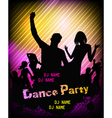 Poster for disco party vector image vector image