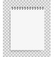 realistic paper notebook in mockup style blank vector image vector image