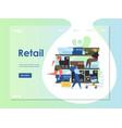 retail website landing page design template vector image vector image