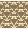 Retro beige seamless pattern vector image vector image