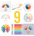 set 8 universal templates elements for vector image