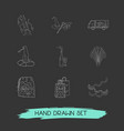 set of halloween icons line style symbols with vector image