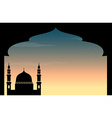 Silhouette mosque at twilight vector image