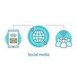 social media concept icon vector image
