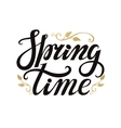Spring time letteringGoldblackwhite background vector image vector image