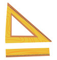 straight and triangle ruler school office supply vector image