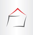 stylized house home icon vector image vector image