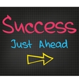 Success Just Ahead vector image vector image
