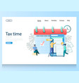 tax time website landing page design vector image vector image