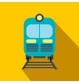 Train flat icon vector image vector image