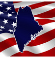 united states maine dark blue silhouette vector image vector image
