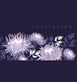 violet asters blossom color invitation template vector image