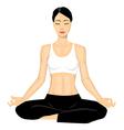 Woman doing yoga vector image vector image